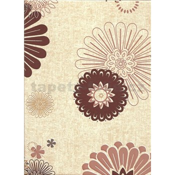 Obrus - kvety hnedé