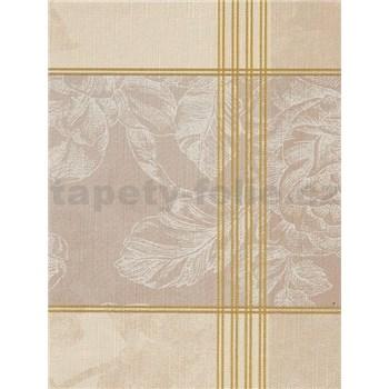 Obrusy návin 20 m x 140 cm ruže bielo-hnedá