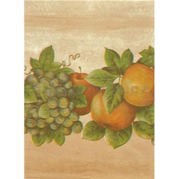 Obrusy návin 20 m x 140 cm ovocie na béžovom podklade