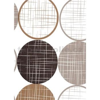 Obrusy návin 20 m x 140 cm kolieska hnedé
