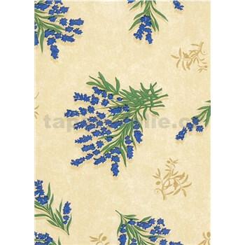 Obrusy návin 20 m x 140 cm kvetinky modré
