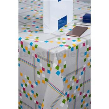 Obrusy návin 20 m x 140 cm štvorčeky farebné