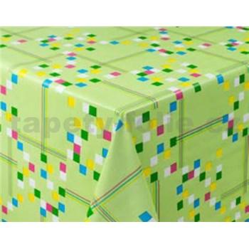 Obrusy návin 20 m x 140 cm štvorčeky zelené