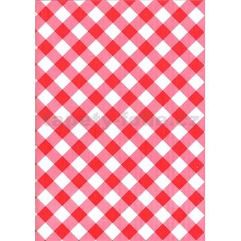 Obrusy návin 20 m x 140 cm štvorčeky červené