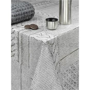 Obrusy návin 20 m x 140 cm pletený vzor sivý