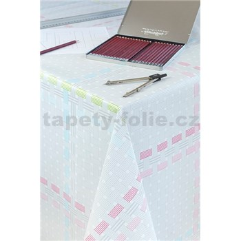 Obrusy návin 20 m x 140 cm prepletaný vzor sivo ružový