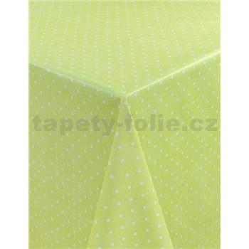 Obrusy návin 20 m x 140 cm bodky zelené