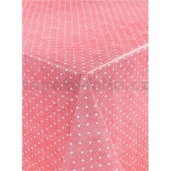 Obrusy návin 20 m x 140 cm bodky červené