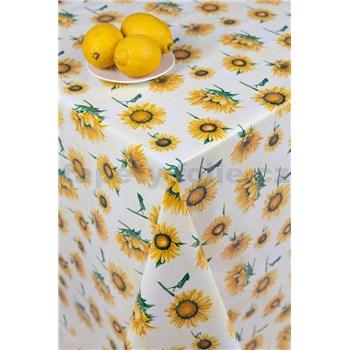 Obrusy návin 20 m x 140 cm slnečnica na žltom podklade