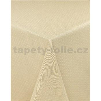 Obrusy návin 20 m x 140 cm pletený vzor béžový s textilnou štruktúrou