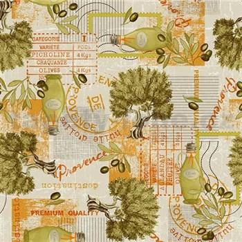 Obrusy návin 20 m x 140 cm olivovník