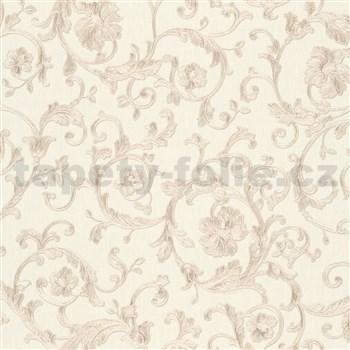 Luxusné vliesové  tapety na stenu Versace III klasický barokový vzor béžovo-strieborný