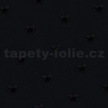 Luxusné vliesové  tapety na stenu Versace III hlava medúzy čierna