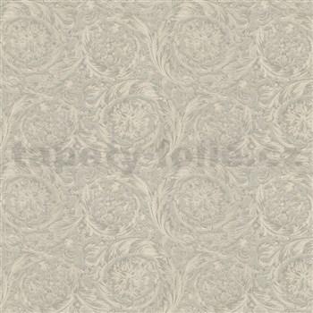 Luxusné vliesové  tapety na stenu Versace IV barokový vzor sivo-strieborný