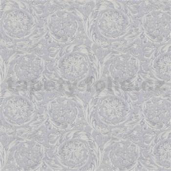 Luxusné vliesové  tapety na stenu Versace IV barokový vzor strieborno-sivý