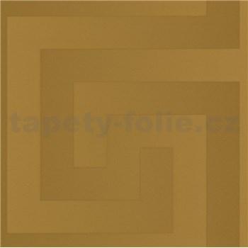 Luxusné vliesové  tapety na stenu Versace III grécky kľúč zlatý