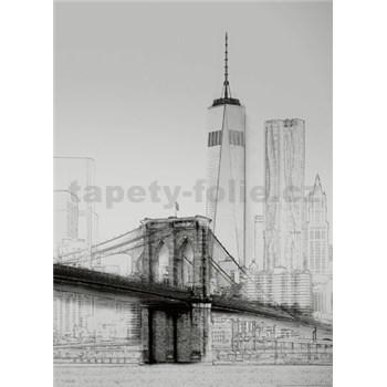 Fototapety umelecká ilustrácia - New York rozmer 184 x 254 cm