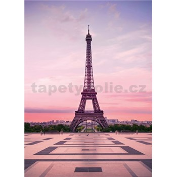 Vliesové fototapety Eiffelova veža pri úsvite rozmer 184 x 254 cm - POSLEDNÉ KUSY