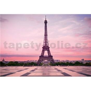 Fototapety Eiffelova veža pri úsvite rozmer 368 x 254 cm