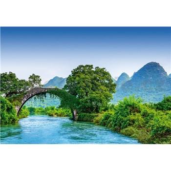 Fototapety most cez rieku v Číně rozmer 368 x 254 cm
