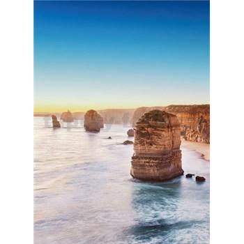 Vliesové fototapety útes pri západe slnka v Austrálii rozmer 184 x 254 cm