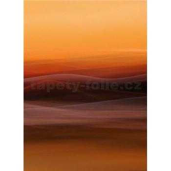 Vliesové fototapety oranžová hmla rozmer 184 x 254 cm
