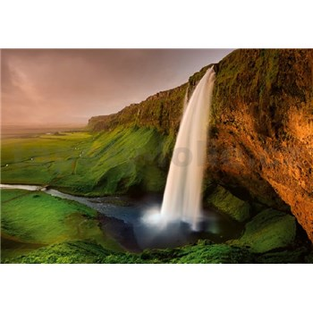 Vliesové fototapety Islandský vodopád rozmer 368 cm x 254 cm