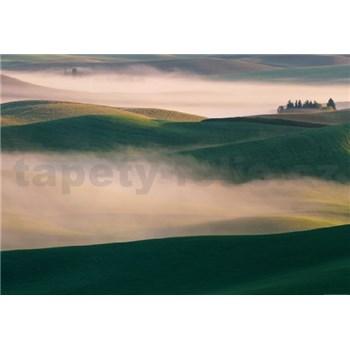 Fototapety kopce v hmle rozmer 368 x 254 cm