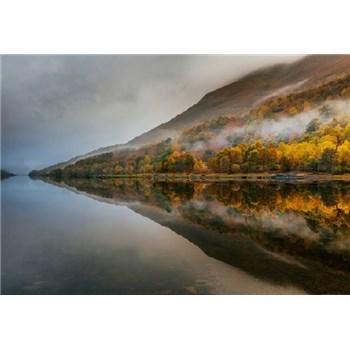 Fototapety mystické jazero vo Škótsku rozmer 368 x 254 cm