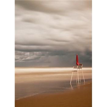 Fototapety židle na pláži rozmer 184 x 254 cm -POSLEDNÝ KUS