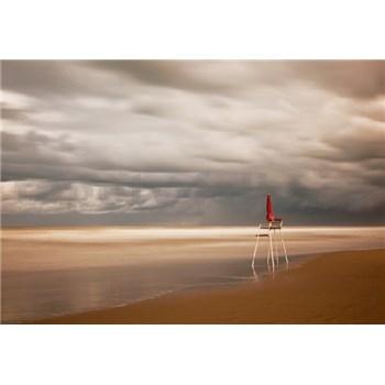 Vliesové fototapety židle na pláži rozmer 368 x 254 cm