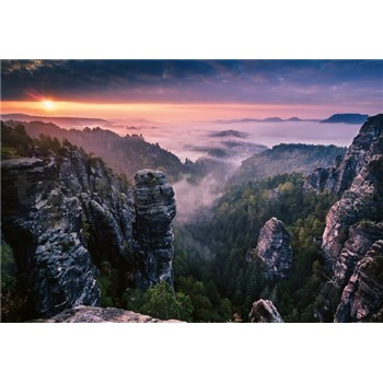 Fototapety východ slnka vo skalách rozmer 368 x 254 cm