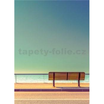 Vliesové fototapety lavice u mora rozmer 184 x 254 cm
