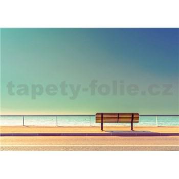 Vliesové fototapety lavice u mora rozmer 368 x 254 cm