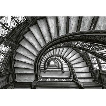 Fototapety staré schodisko rozmer 368 x 254 cm