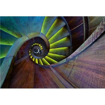 Fototapety točité schodisko rozmer 368 x 254 cm