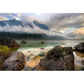 Vliesové fototapety horské jazero rozmer 368 x 254 cm