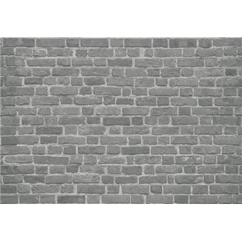 Fototapety tehlová stena čierna rozmer 368 x 254 cm - POSLEDNÉ KUSY