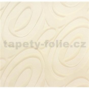 Vinylové tapety na stenu WohnSinn - abstraktný vzor svetlo hnedý