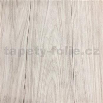 Vliesové tapety na stenu drevené dosky svetlo hnedé