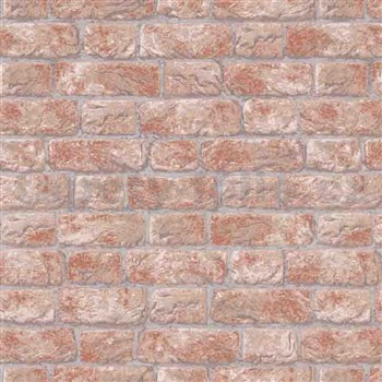 Vliesové tapety na stenu IMPOL tehla oranžovo-hnedá
