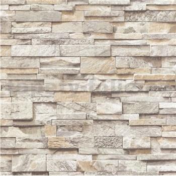 Papierové tapety na stenu Sweet & Cool kamene svetlo hnedé