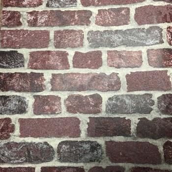 Vliesové tapety na stenu Brique 3D tehly červené s výraznou plastickou štruktúrou