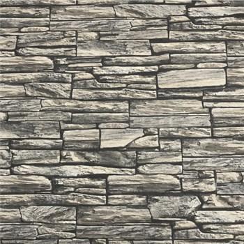 Vliesové tapety na stenu kamenná stena  sivá