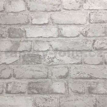Vliesové tapety na stenu tehly biele
