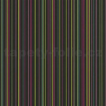 Papierové tapety na stenu X-treme Colors - prúžky farebné na čiernom podklade - POSLEDNÝ KUS