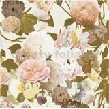 Vliesové tapety na stenu kvety velké na bielom podklade