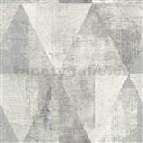 Vliesové tapety na stenu IMPOL Collection geometrické vzory s patinou sivé