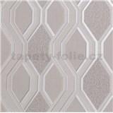 Vinylové tapety na stenu geometrický vzor sivý