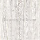 Samolepiaca tapeta staré drevo sivé  - 45 cm x 15 m